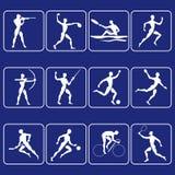 De symbolen van de sport Stock Afbeelding