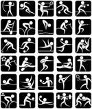 De Symbolen van de Sporten van de zomer Royalty-vrije Stock Foto