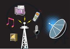 De symbolen van de telecommunicatie stock illustratie