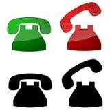 De Symbolen van de telefoon Stock Afbeeldingen