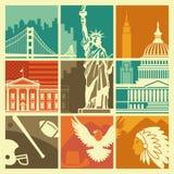 De symbolen van de V.S. Stock Afbeeldingen