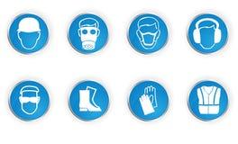 De symbolen van de veiligheid Stock Afbeeldingen