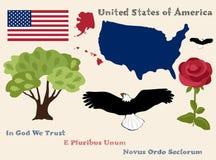 De symbolen van de Verenigde Staten van Amerika Royalty-vrije Stock Foto's