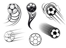 De symbolen van de voetbal en van het voetbal stock illustratie