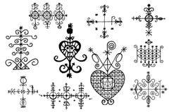 De Symbolen van de voodoogeest Stock Foto's