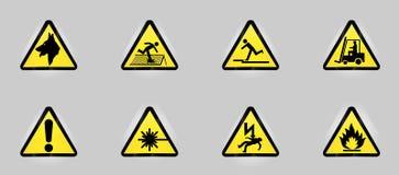 De symbolen van de waarschuwing vector illustratie