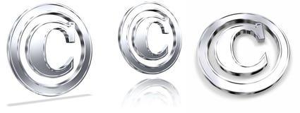 De Symbolen van het auteursrecht stock illustratie
