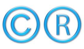 De symbolen van het auteursrecht royalty-vrije stock fotografie