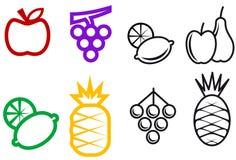 De symbolen van het fruit Stock Afbeeldingen