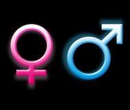 De symbolen van het geslacht Stock Foto's
