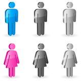 De symbolen van het geslacht. Stock Afbeelding