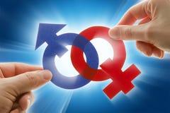 De symbolen van het geslacht Stock Afbeeldingen