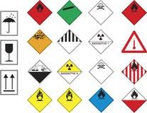 De symbolen van het gevaar Stock Foto's