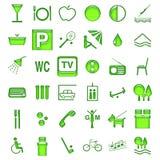De symbolen van het hotel stock illustratie