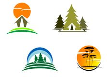 De symbolen van het toerisme Stock Foto's