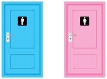 De symbolen van het toilet Stock Afbeeldingen