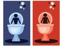 De symbolen van het toilet Stock Fotografie