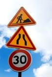 De symbolen van het verkeer Royalty-vrije Stock Afbeelding
