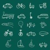 De symbolen van het vervoer royalty-vrije illustratie