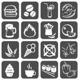 De symbolen van het voedsel Stock Afbeeldingen