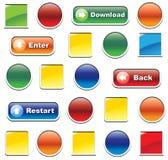 De symbolen van het Web Royalty-vrije Stock Afbeeldingen