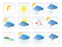 De symbolen van het weer Royalty-vrije Stock Foto's