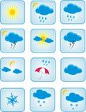 De symbolen van het weer Stock Afbeelding