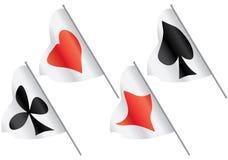 De symbolen van kaarten op vlaggen. Royalty-vrije Stock Fotografie