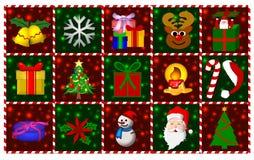 De Symbolen van Kerstmis Stock Afbeelding