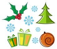 De symbolen van Kerstmis Stock Illustratie