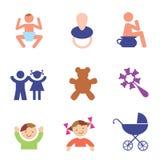 De symbolen van kinderen stock illustratie