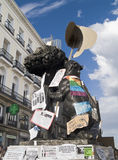 De symbolen van Madrid met eisentekens, Spaanse Revolutio Royalty-vrije Stock Afbeelding