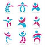 De symbolen van mensen Stock Afbeelding
