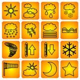 De symbolen van Meteorologic Stock Foto's