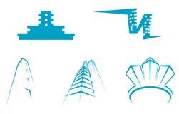 De symbolen van onroerende goederen Stock Afbeeldingen