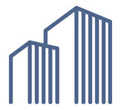 De symbolen van onroerende goederen Royalty-vrije Stock Afbeeldingen