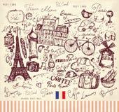 De symbolen van Parijs royalty-vrije illustratie