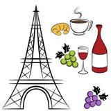 De symbolen van Parijs Royalty-vrije Stock Afbeelding