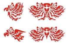 De symbolen van Phoenix Rood op het wit royalty-vrije illustratie