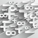 De Symbolen van wiskundecalcul Stock Foto