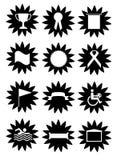 De symbolenknopen van sporten Stock Foto's