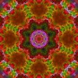 De symmetrie eigentijdse feestelijke textuur van de Mandala unieke dekking bloemen, malplaatje royalty-vrije illustratie