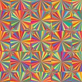 De symmetrie naadloos patroon van de cirkelstraal vector illustratie