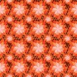 De symmetrie naadloos patroon van de bloem oranje kleur royalty-vrije illustratie