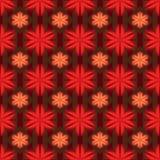 De symmetrie naadloos patroon van de bloem rood stijl vector illustratie