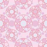 De symmetrie naadloos patroon van de cirkel roze kleur stock illustratie