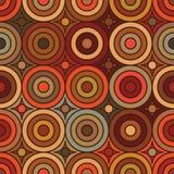 De symmetrie naadloos patroon van de cirkel uitstekend stijl stock illustratie