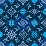De symmetrie naadloos patroon van de lijnkrul stock illustratie