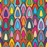 De symmetrie naadloos patroon van de roomijsstok Stock Foto