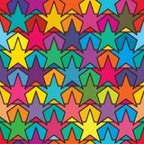 De symmetrie naadloos patroon van de stervriend vector illustratie